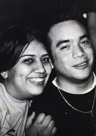 First picture San Antonio Photographers Irene Castillo and David Castillo when they were first dating