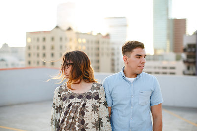 Los Angeles engagement photo osession
