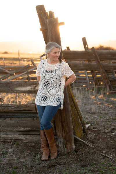 Image of Showit Expert Liz Langford-Cobo on her ranch in Northern California