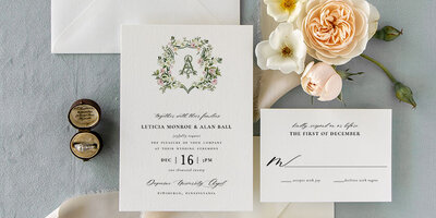 Chelsea | Blue Floral Watercolor Wedding Invitations