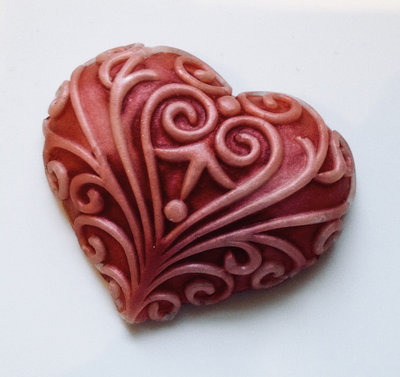 glycerin soap heart