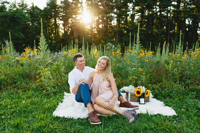 Philadelphia Outdoor Engagement Session in Woods 15