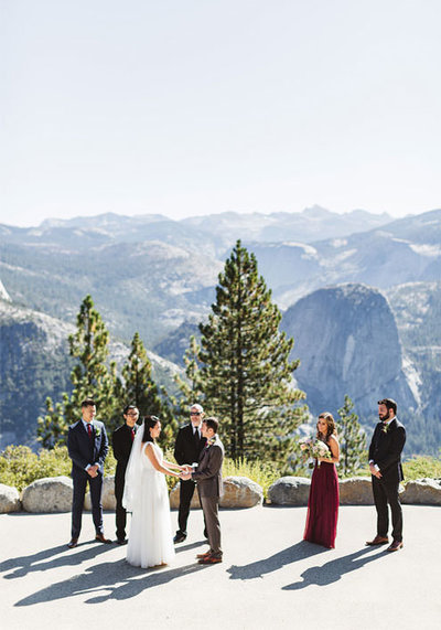 yosemite wedding ceremony taking place