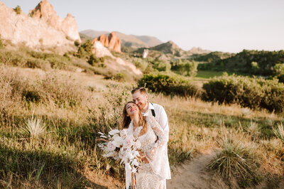 sunrise wedding at garden of the gods in colorado springs
