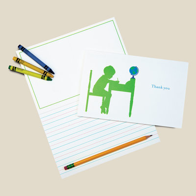 The Coral and Blue Boys Collection of Kids Stationery