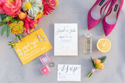 phoenix wedding photographer yellow and pink