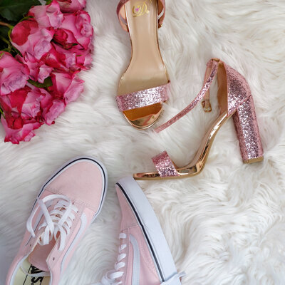 pink chai living shoes