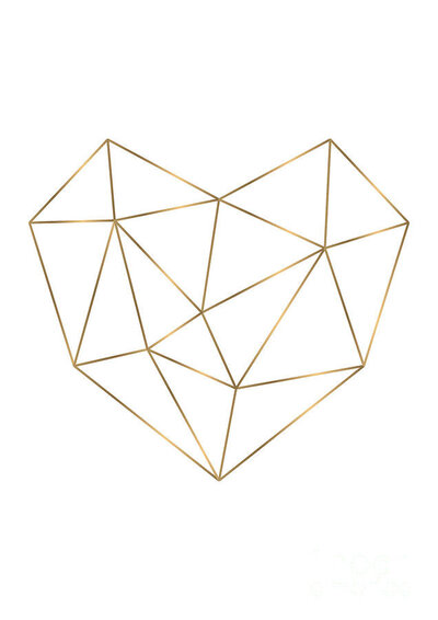 geometric-heart-with-gold-lines-goldinavian-wall