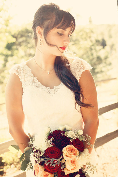 wedding photography, wine country bride
