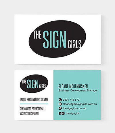 The Sign Girls Business Card by The Brand Advisory