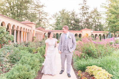 Bright and airy wedding portrait at St. Francis Hall in Washington DC for a wedding by Jennifer Marie Studios Atlanta wedding photographer