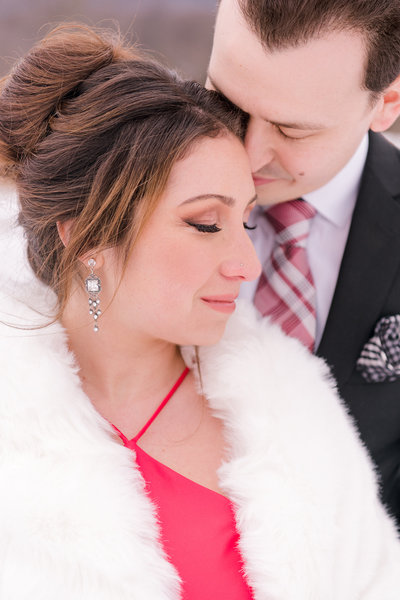 engagement pictures during winter in hudson valley, new york