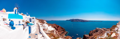 Best Santorini, Greece wedding venues by Santorini wedding photographer Luma Weddings
