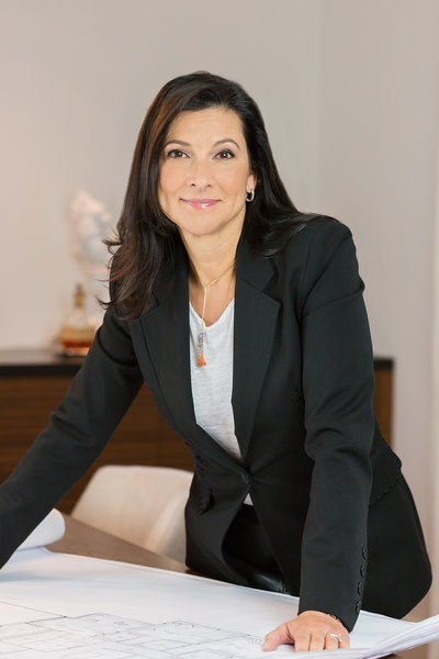 Headshot of Interior Designer in a home she designed