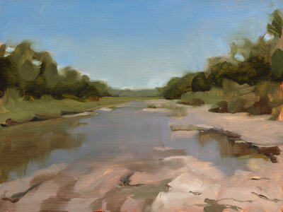 Clair gallery paintings_San Gabriel River_