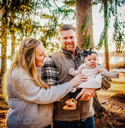 Family photography session at Loch Raven Reservoir in Towson, Md