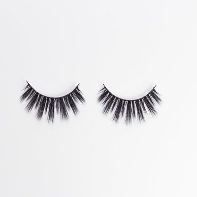 Mink Eyelashes on White Background