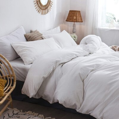 White Linen Bedding Set