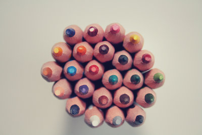 Canva - Piled Colored Pencils