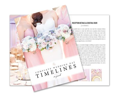Complete Wedding Day Timelines | Resource for portrait and wedding photographers from Amy & Jordan