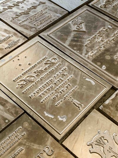 gold plates for printing press