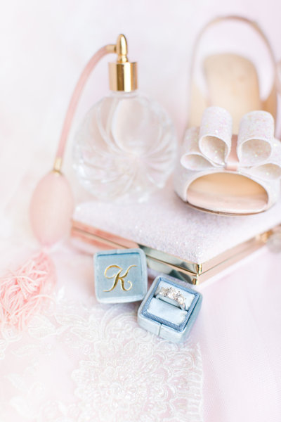 Blush McCormick Ranch Golf Club Bridal Details | Amy & Jordan Photography