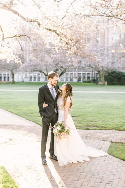 Cherry Blossom Wedding Inspiration at UW Seattle_0078