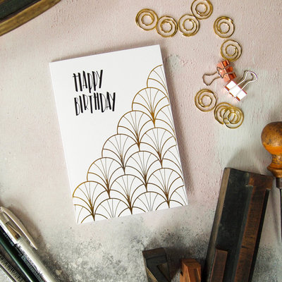 art deco birthday card