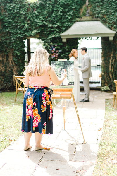 Goodstone Inn Live Wedding Painter Photographed by Jenny B Photography