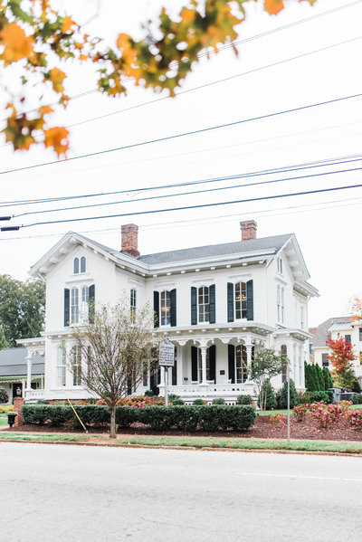 fall wedding at the merrimon wynne house  downtown raleigh