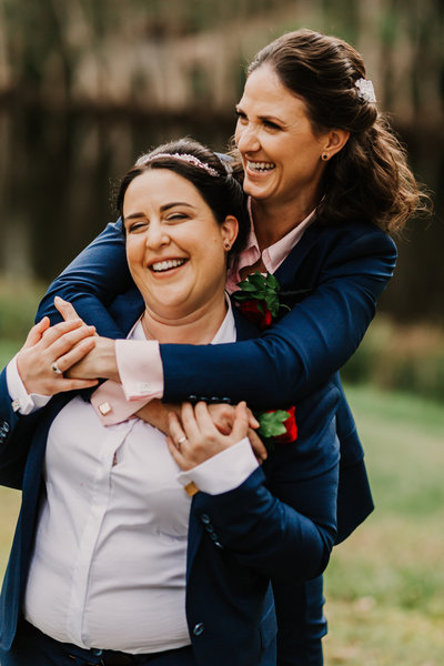 Natasha and Mathilde tied the knot at the Brisbane Botanic Gardens.
