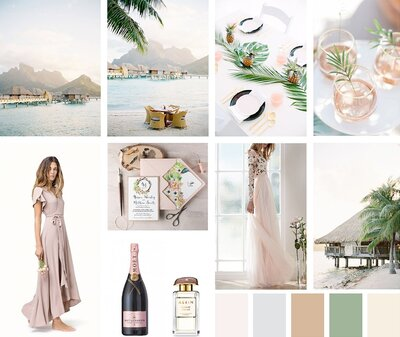 Wedding Moodboard Inspiration in Bora Bora by Paulina Cadoret Photography