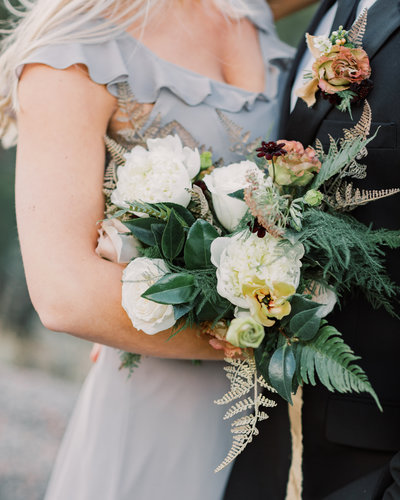 Organic neutral wedding bouquet
