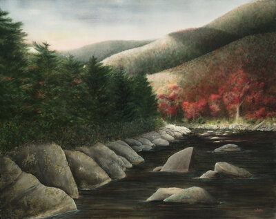 Sugarlands painting by talented Chattanooga Painter Alan Shuptrine