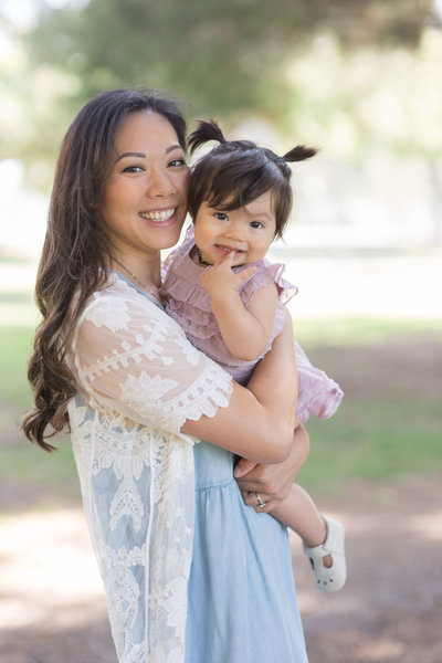 Dolly did a mother daughter family session at El Dorado Park in Long Beach - Kelly H Photo