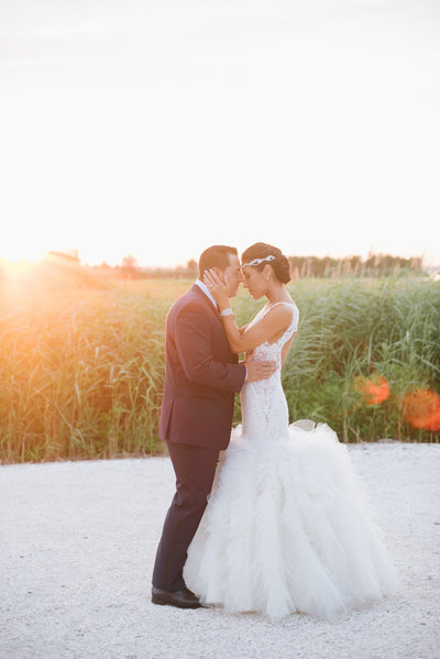 Romantic Sunset at a Bonnet Island Estate Wedding