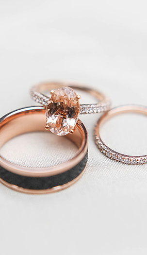 Morganite-Engagement-Ring-Wedding-Bands-Lindsey-LaRue-Photo