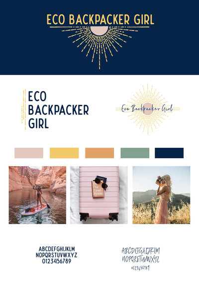 Eco Backpacker Girl Brand Board copy