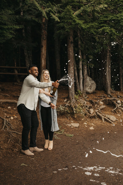 EMILY VANDEHEY PHOTOGRAPHY -- Arun + Erin -- Engagement -- Trillium Lake -- Previews-8