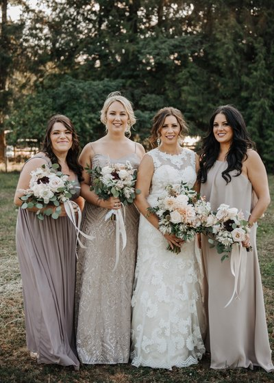 Blush Wedding flower bouquets