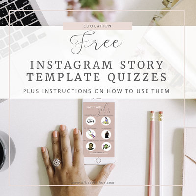 instagram story quiz templates copy
