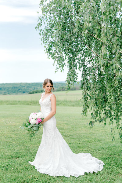 Bridal Portrait by WNY Wedding Photographer HS Neckers Photography