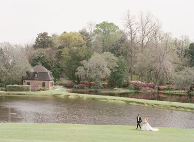 The lake and lawn at Middleton Place, Charleston SC