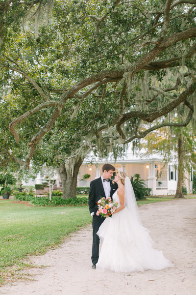Fall Bride and Groom Private Home Newlywed Portraits