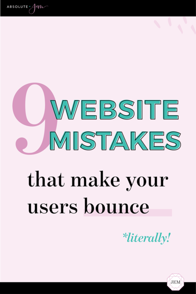 Absolute JEM Blog | 9 Common Website Mistakes and How To Fix Them
