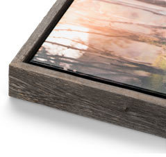 canvas in barnwood frame offered by Sacramento photographer
