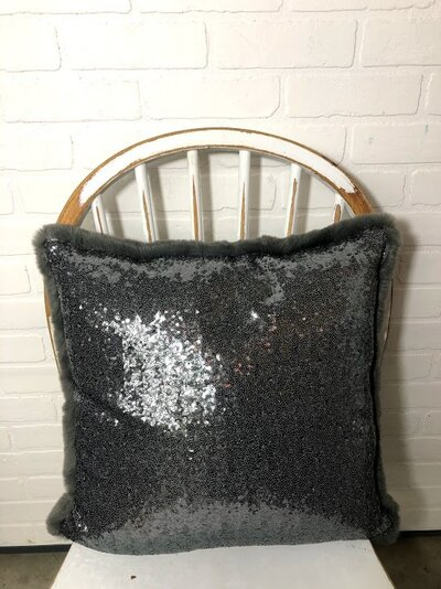 Pewter Sequin Fur
