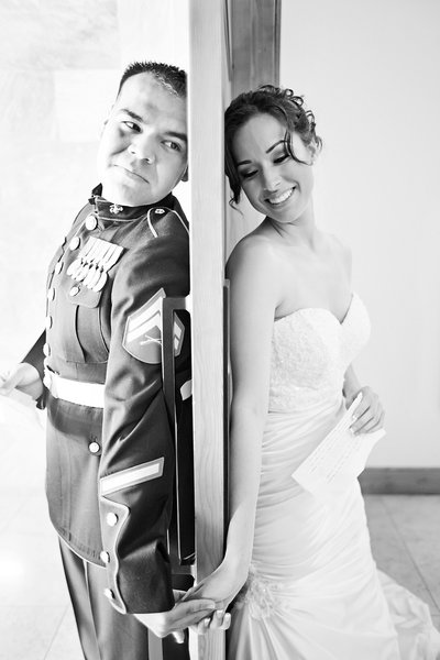 Military Wedding photographer in CA