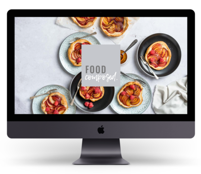 iMac Pro 2018 Mockup - Food Composed