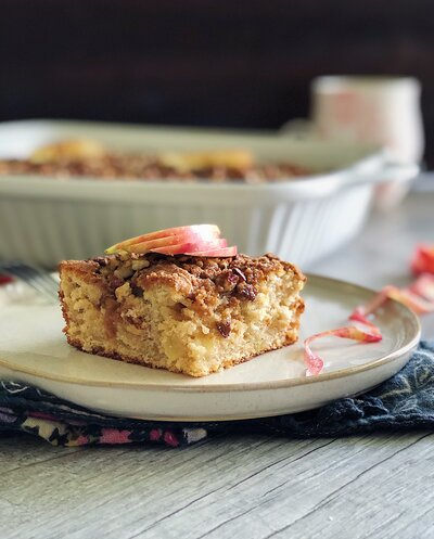Cinnamon Apple Coffee Cake with Espresso Glaze2